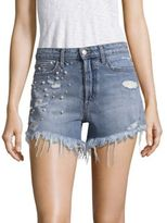 Joe's Jeans TAYLOR HILL x Charlie Distressed High-Rise Shorts