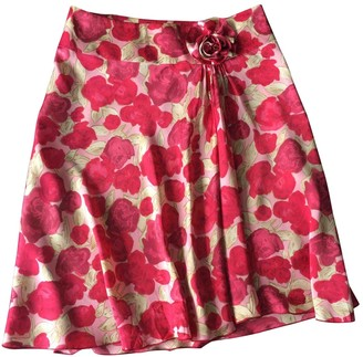Tara Jarmon Red Silk Skirt for Women