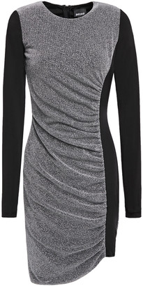 Just Cavalli Draped Paneled Metallic Stretch-jersey Mini Dress