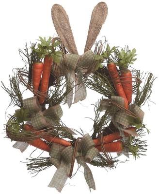 "Transpac 22"" Carrot Bunny Ear Wreath"