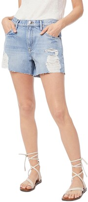Frame Le Ultra Baggy Distressed Denim Shorts