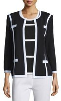 Misook Milano Jacket with Piping, Plus Size