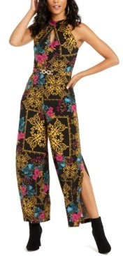 Thalia Sodi Printed Halter-Neck Jumpsuit, Created For Macy's