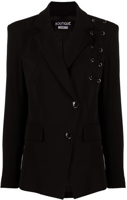 Boutique Moschino Double Breast Lace-Up Blazer