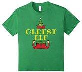 Kids Christmas Family Shirt Set Oldest Elf T-Shirt Trending 4