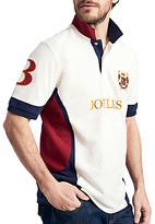 Joules Caspian Polo Shirt, Cream/Navy/Red