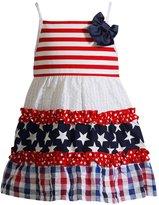 Youngland Baby Girl Patriotic Ruffled Sundress