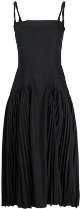 Proenza Schouler High-Low Pleated Dress