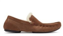 BOSS Moccasins in suede with shearling lining