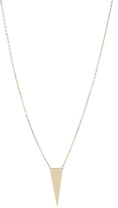 KARAT RUSH 14K Yellow Gold Triangle Pendant Necklace