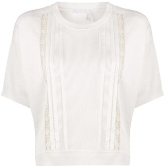 Chloé Ribbed Panel Top