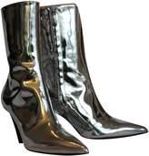 Balenciaga Slash Silver Patent leather Ankle boots