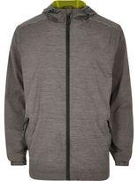 River Island MensRI Active grey fluro lined zip sports jacket