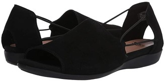 Earth Alder Abra (Black Suede) Women's Sandals
