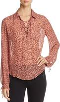 Scotch & Soda Cheetah Print Lace-Up Top