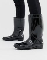 Asos Design DESIGN wellies in black patent