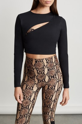 A.l.c. X Bandier Long Sleeve Cut Out Cropped Top in