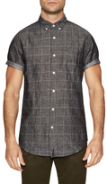 Shades of Grey by Micah Cohen Printed Button-Down Sportshirt