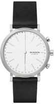 Skagen Women's Hald Hybrid Leather Strap Smart Watch, 40Mm