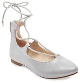 Stevies Girls' #LACEMEUP Ballet Flats