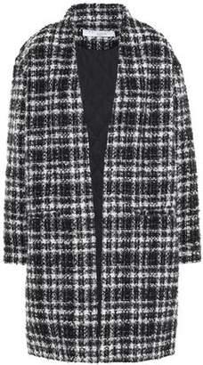 IRO Twisted Metallic Checked Boucle-tweed Coat