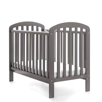 O Baby Obaby Lily Cot and Foam Mattress - Taupe Grey