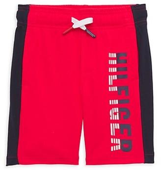 Tommy Hilfiger Little Boy's Side-Stripe Logo Shorts