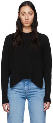Isabel Marant Black Cashmere Chinn Crewneck Sweater