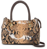 Cole Haan Benson Snake-Embossed Leather Small Crossbody Tote