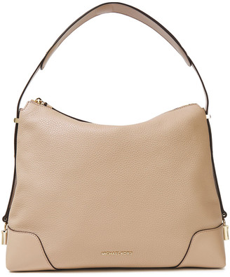 MICHAEL Michael Kors Smooth And Pebbled-leather Shoulder Bag