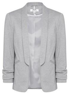 Dorothy Perkins Womens Petite Grey Ponte Jacket, Grey