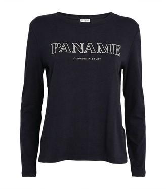 Claudie Pierlot Paris Logo Long-Sleeved T-Shirt