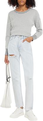 Rag & Bone Maya Distressed High-rise Slim-leg Jeans