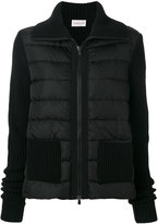 Moncler puffer front knitted jacket