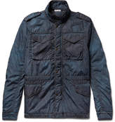 Tomas Maier Distressed Shell Field Jacket - Storm blue
