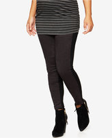 A Pea in the Pod Maternity Faux-Suede Paneled Leggings