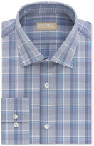 Michael Kors Men's Classic Fit Non-Iron Blue Check Dress Shirt