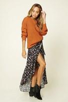 Forever 21 FOREVER 21+ Floral Wrap Skirt