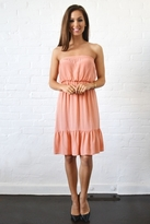 Twelfth St. By Cynthia Vincent by Cynthia Vincent Strapless Ruffle Dress in Salmon
