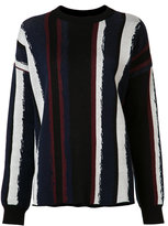 Baja East striped round neck jumper - women - Cotton - 3