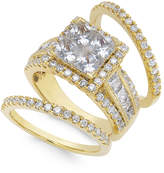 Macy's Diamond Cluster Bridal Set (3-1/2 ct. t.w.) in 14k Gold