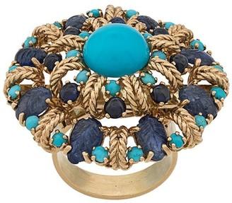 Katheleys Vintage 1950's 18kt gold Tutti Fruiti ring