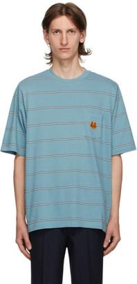 Kenzo Blue Seasonal Stripe Pocket T-Shirt