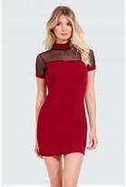 Select Fashion Fashion Mesh Panel Bodycon Dress Dresses - size 8