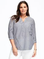 Old Navy Striped Plus-Size Pocket Tunic