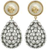 Tory Burch Crystal Pearl Statement Earrings Earring