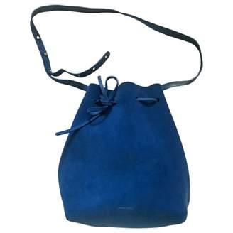 Mansur Gavriel Bucket Blue Suede Handbags