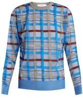Toga Checked intarsia-knit sweater