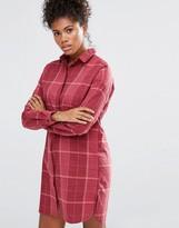 Vila Winther Check Longline Dress