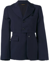 Comme des Garcons deconstructed blazer - women - Polyester/Cupro/Mohair/Wool - S